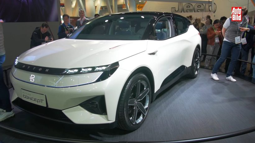 2019 white Byton electric crossover concept