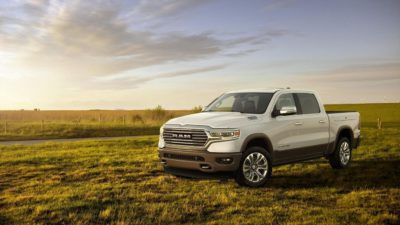 2019 white Dodge Ram 1500 Laramie LongHorn Edition