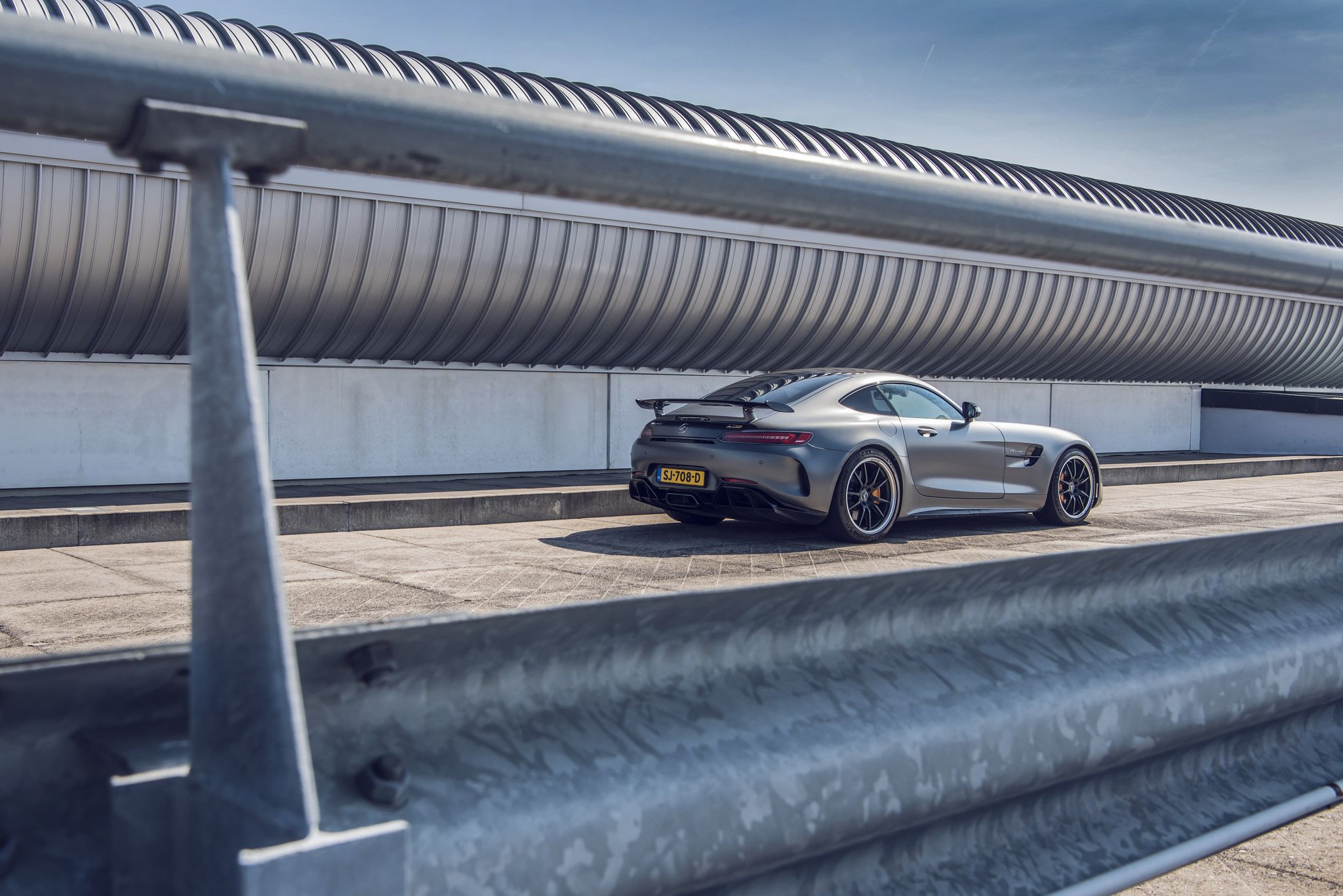 grey Mercedes-Benz AMG GT R rear bumper