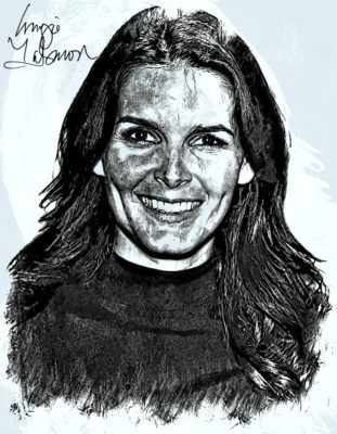 Angie Harmon pencil drawing