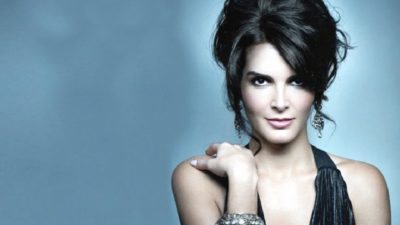 Angie Harmon with amazing hairstyle