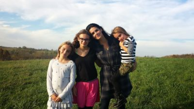 Angie Harmon with her daughters