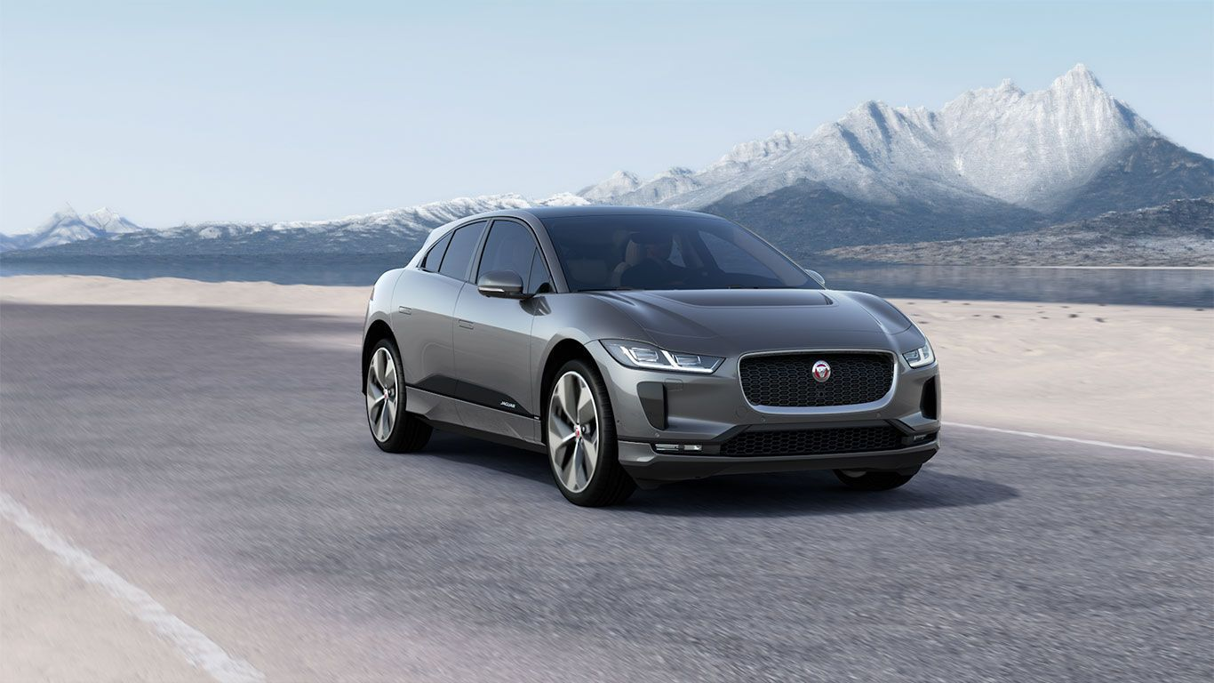 At mountain background - Jaguar i Pace 2018
