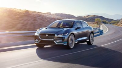 At speed - Jaguar i Pace 2018