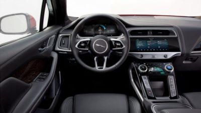 Black leather interior of Jaguar i Pace 2018