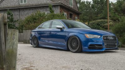 Rotiform LHR wheels - blue Audi S3 sedan in High quality