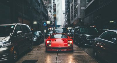 Red sport car Ferrari F40