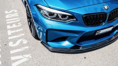 Front bumper of 2018 blue BMW M2 LCI 2 series
