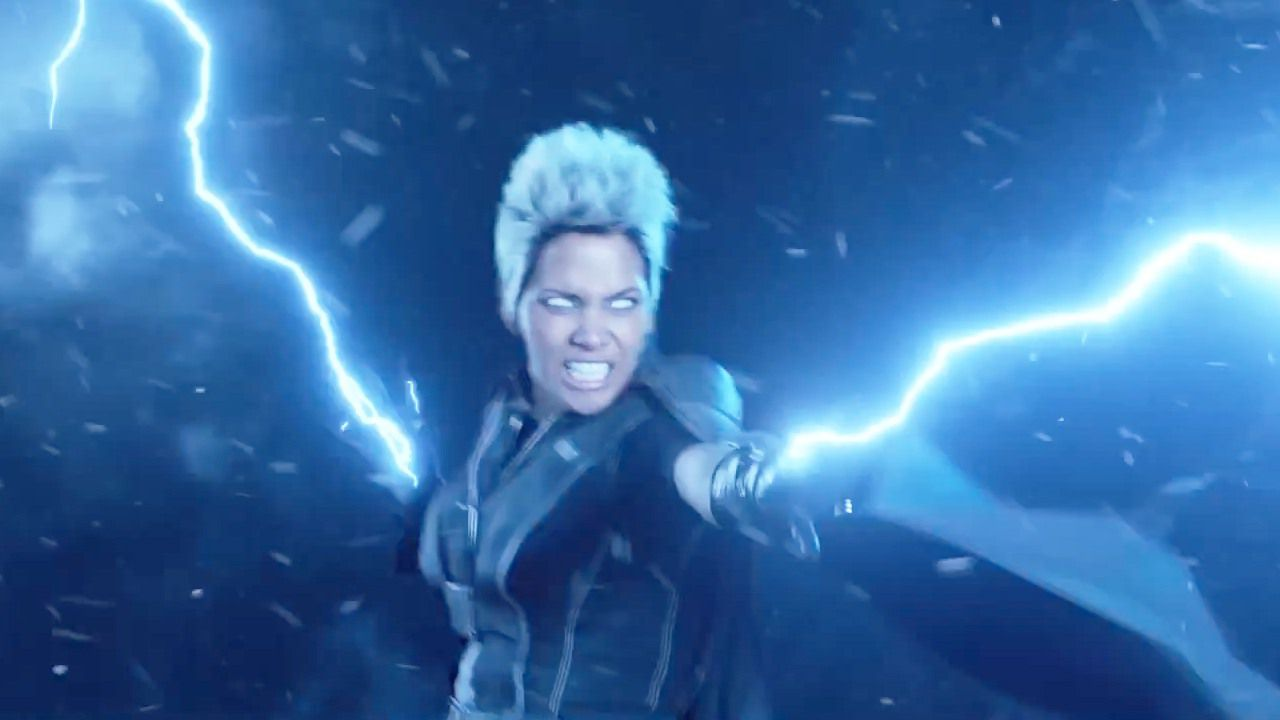 Halle Berry as storm with white eyes