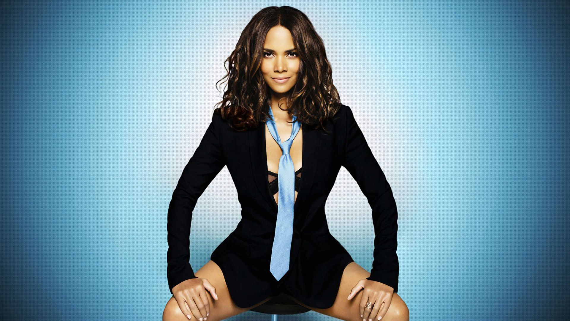 Halle Berry hot office style