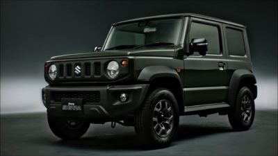 hd pic of the dark green Jimny Sierra