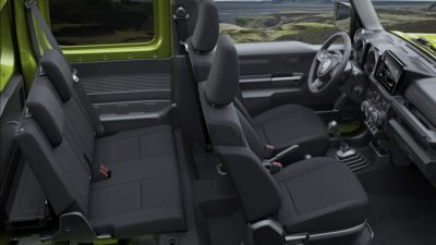 Jimny interior 1rd and 2-rd rows