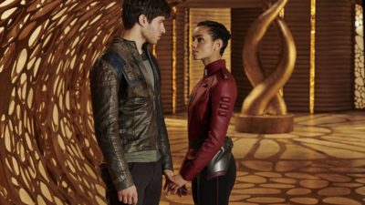 Krypton TV: Cameron Cuffe as Seg El with Georgina Campbell as Lyta Zod
