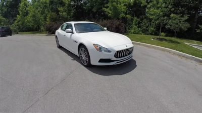 New Maserati Quattroporte S Q4 GranLusso in white, grey and black colours
