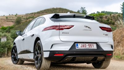 Rear bumper of EV400 AWD Jaguar i Pace 2018