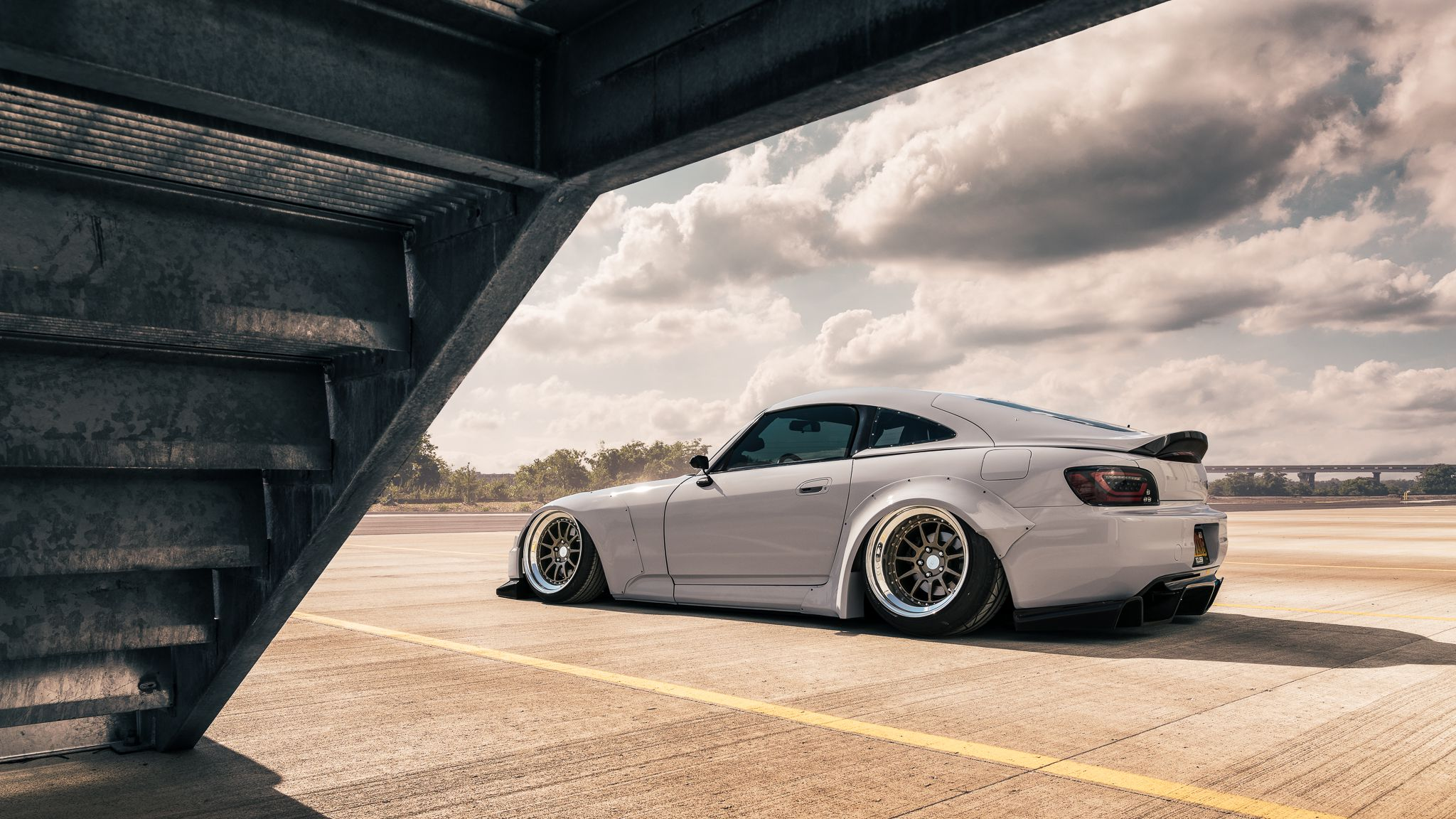 Tuned Honda s2000 side view