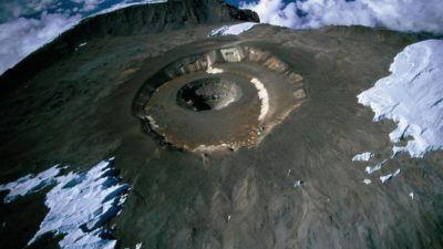 aerial view on the mount Kilimanjaro