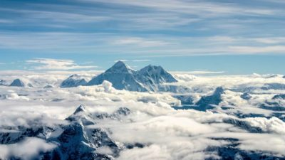amazing aerial view on the mount Everest