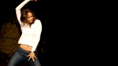 awesome Halle Berry in dancing pose