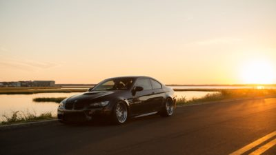 Black BMW M3 coupe on Rotiform LVS wheels