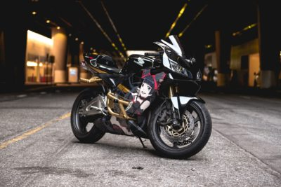 black Honda Sport Bike CBR 600rr