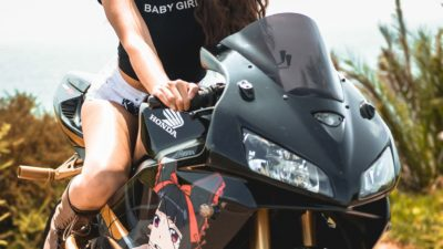 brunette girl on honda cbr600rr for Android