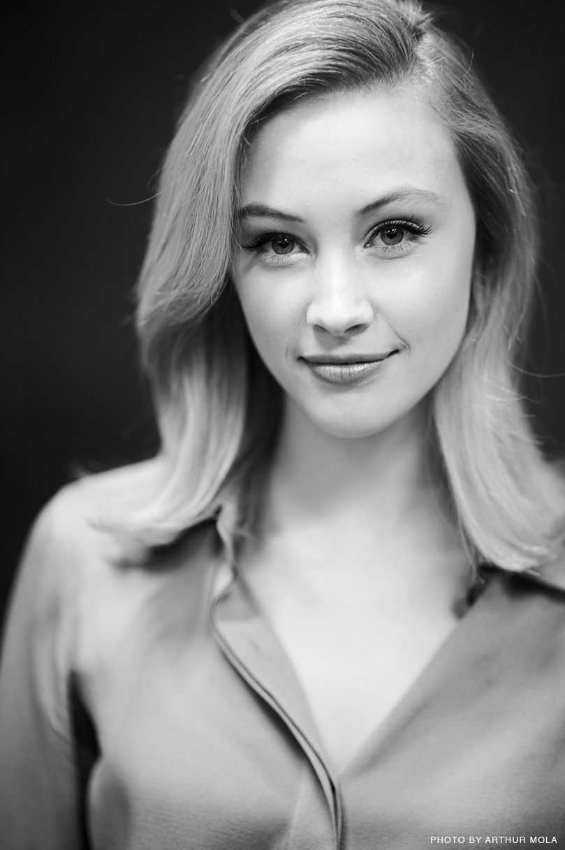 cute Sarah Gadon in black and white