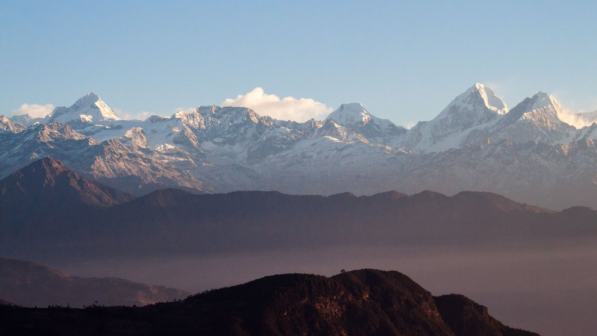 in the morning mount Everest