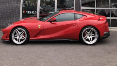 red sport car on VLS04 wheels - Ferrari 812 Superfast in high quality