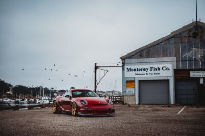 Golden Rotiform HUR - red Porsche Cayman