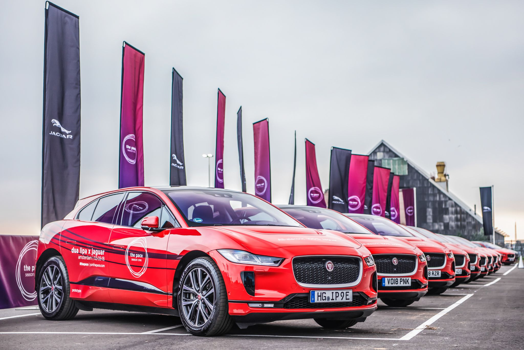 10 red Jaguar I-Paces Widescreen