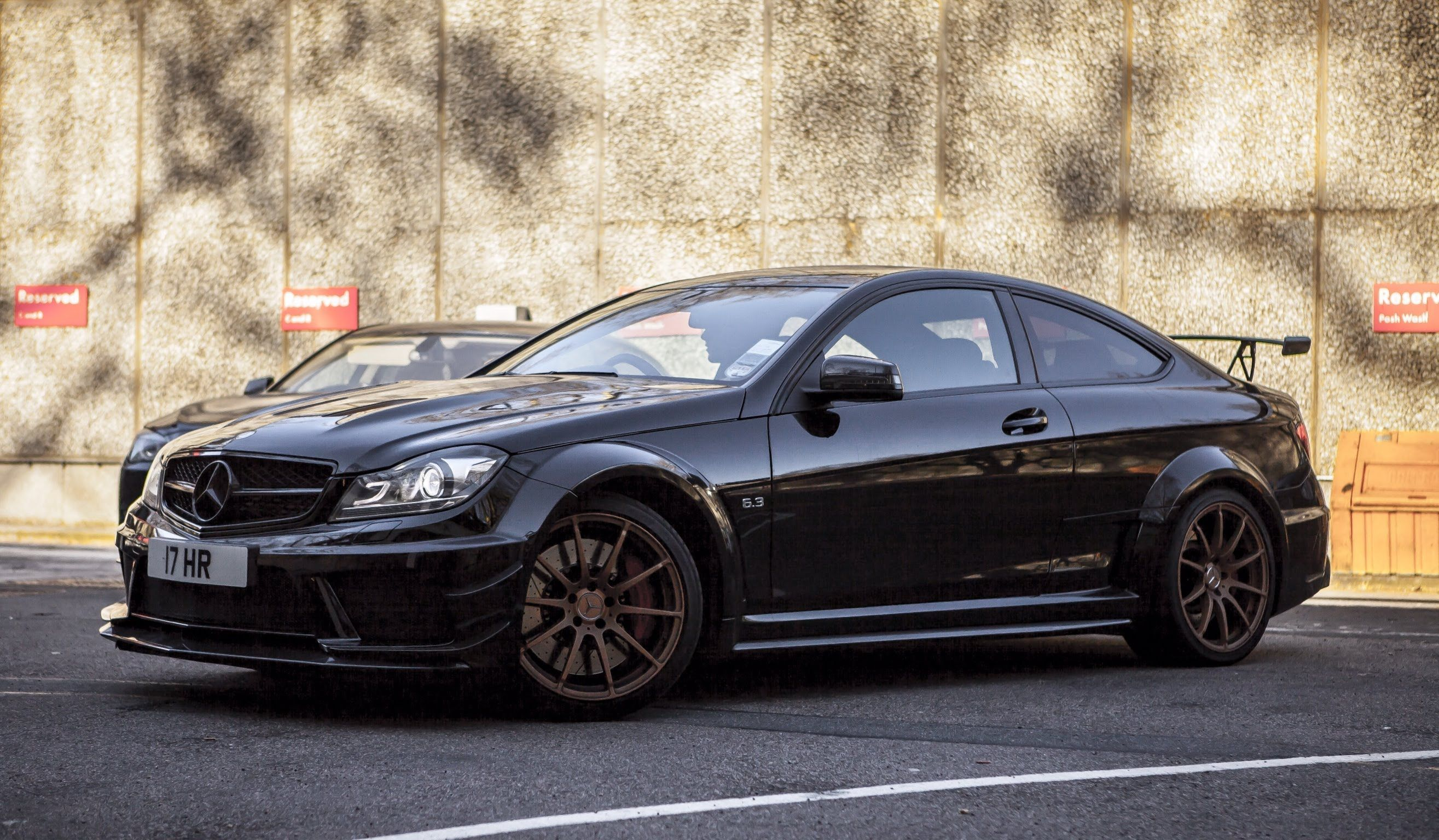 black Mercedes-Benz AMG C63 Black Series in high resolution