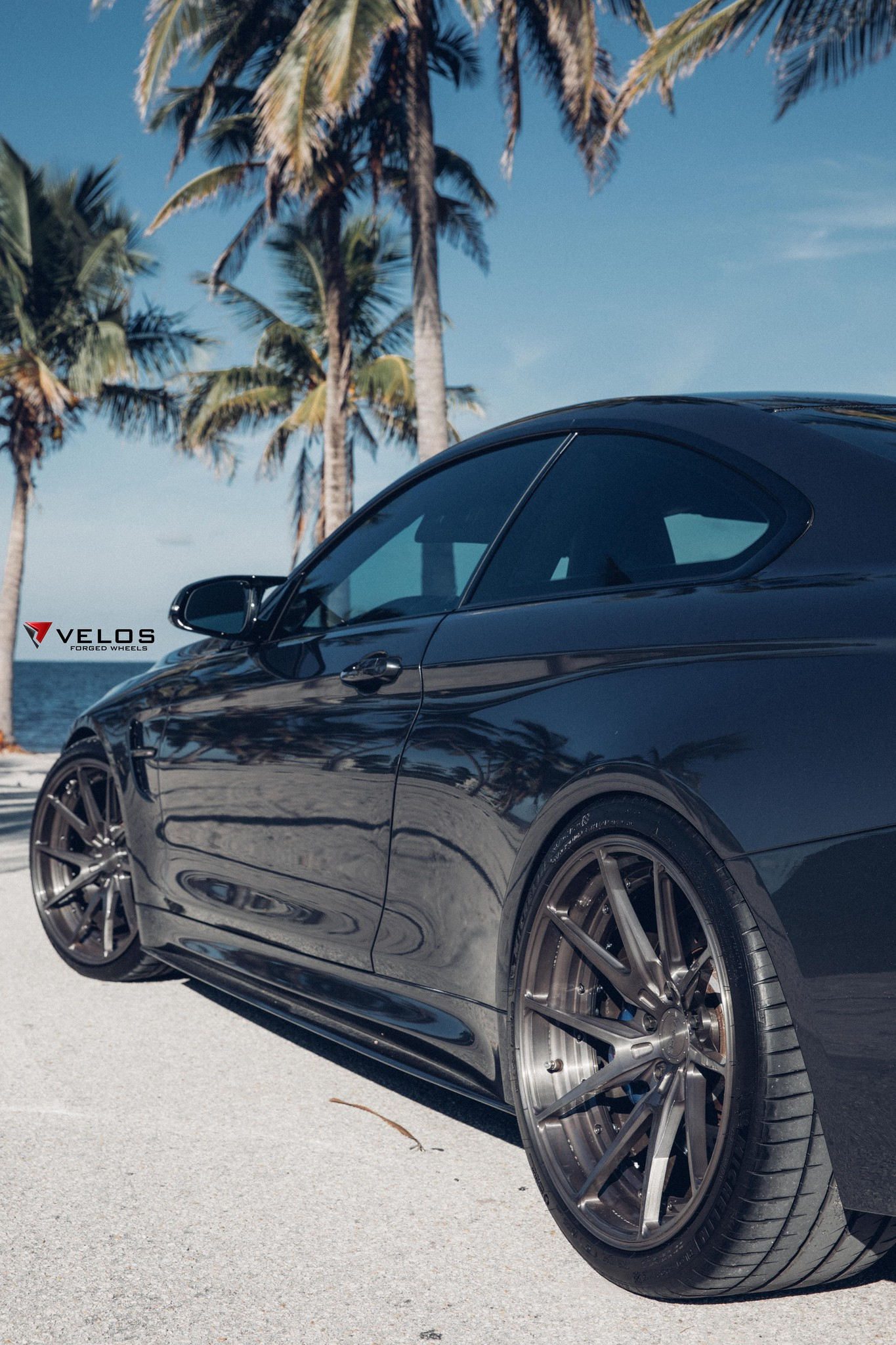 BMW M4 F82 coupe on velos 01 wheels