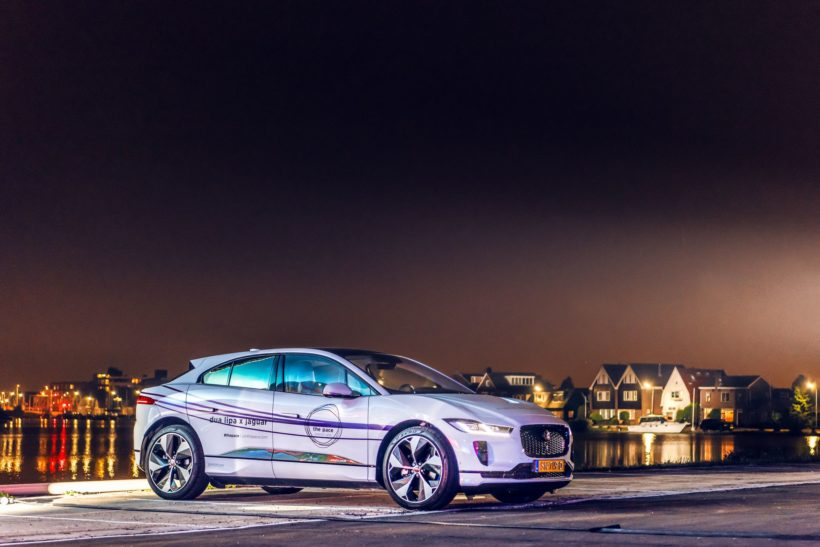 Jaguar I-Pace at night