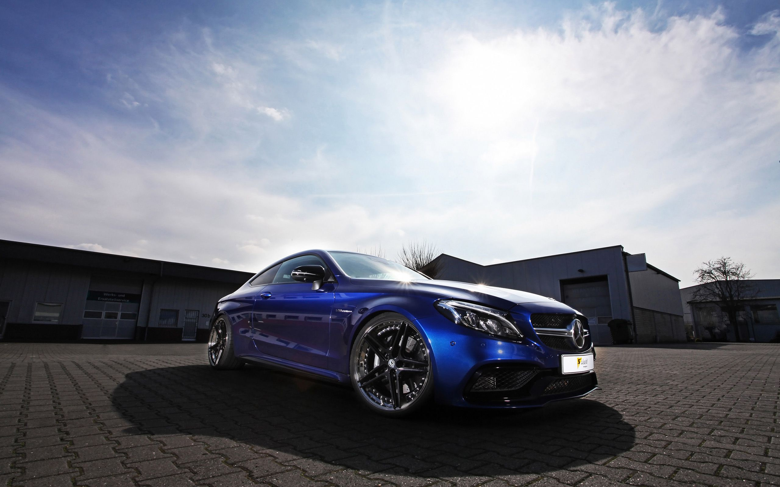 blue Mercedes-Benz AMG C63 Black Series HD images