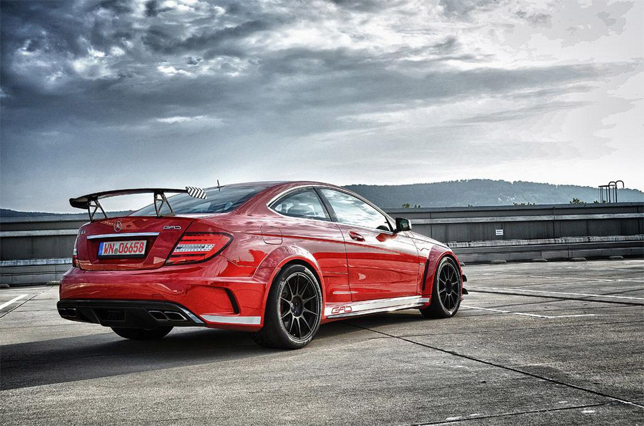 red Mercedes-Benz AMG C63 Black Series