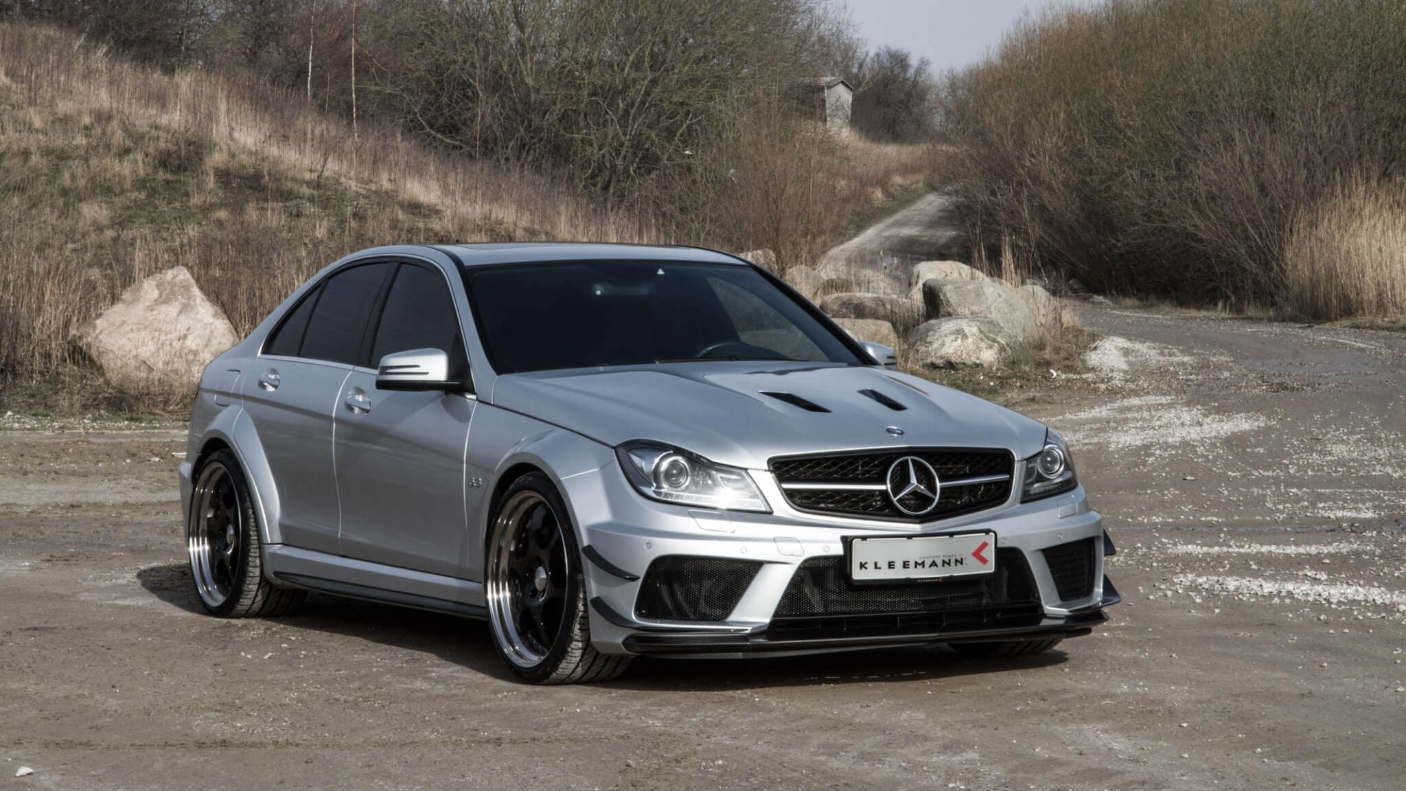 silver Mercedes-Benz AMG C63 Black Series