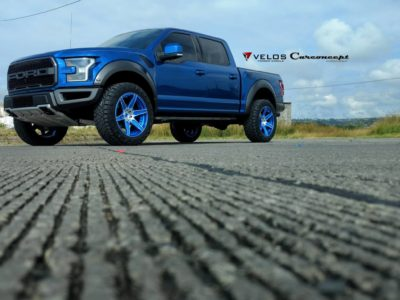 blue Ford Raptor 2018
