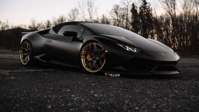 Laborghini Huracan, Black, Sports car, Convertible