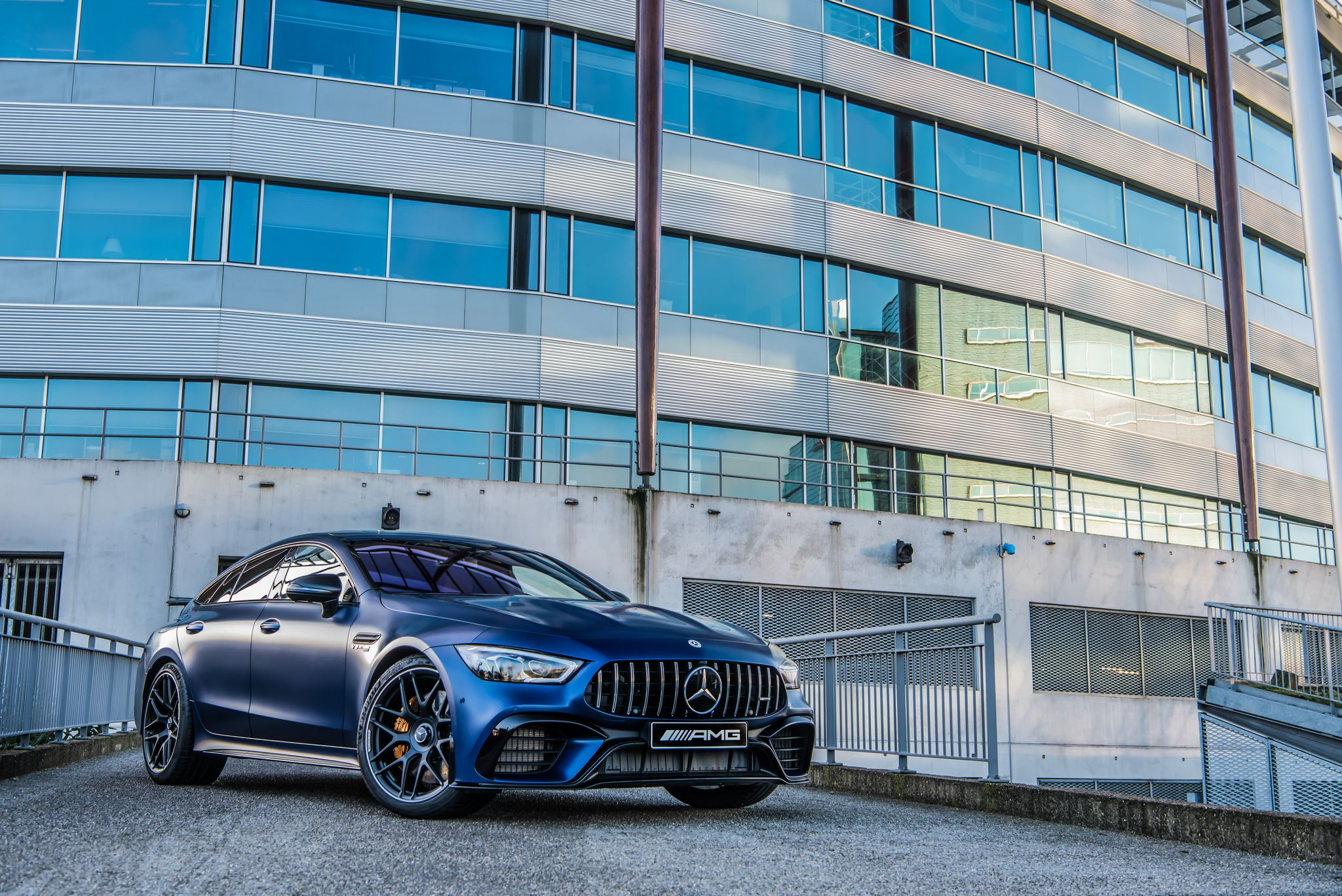 blue Mercedes AMG GT 63 S