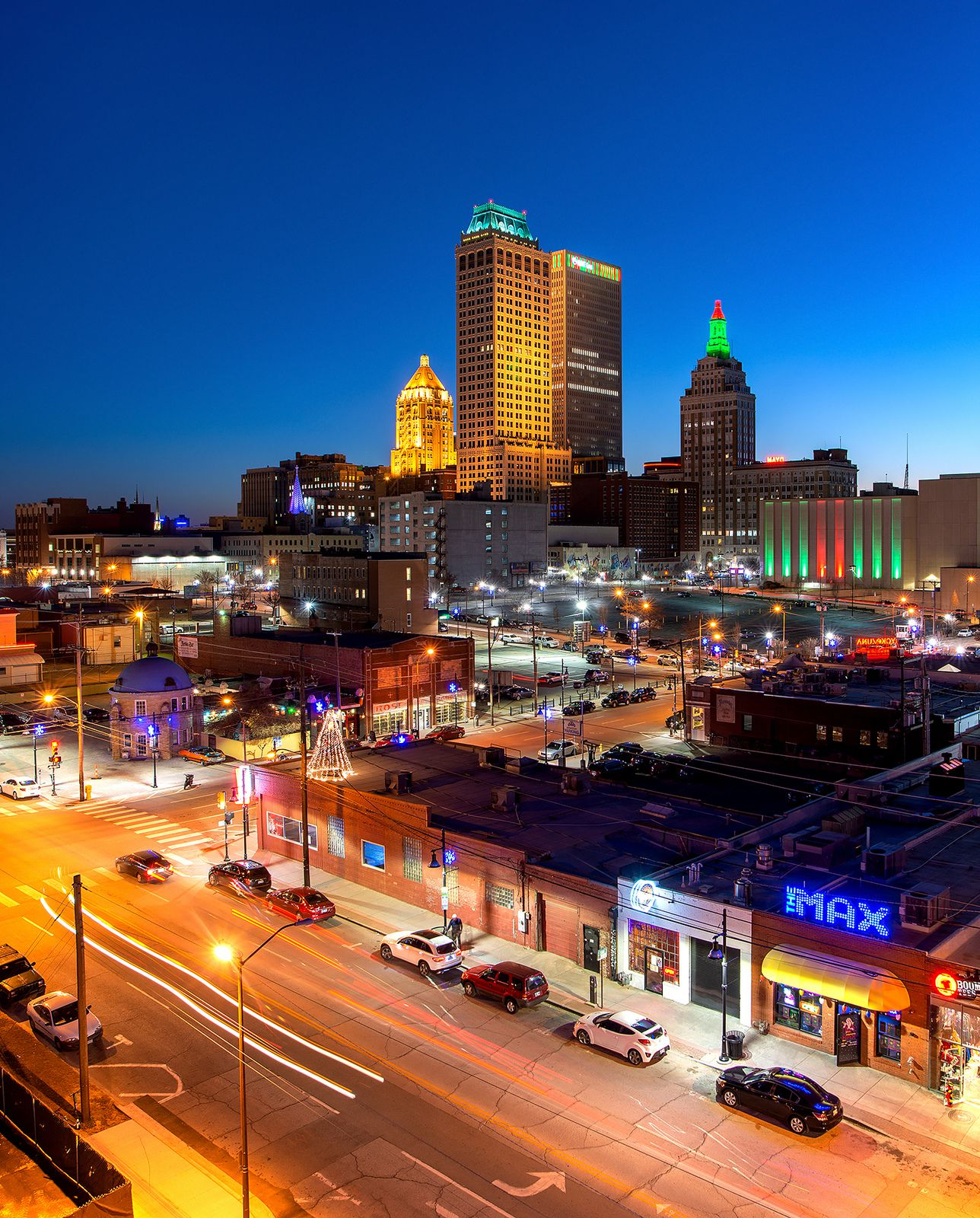 Tulsa city at night