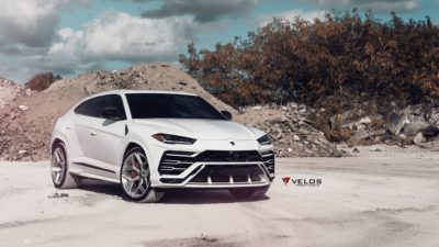 2018 Lamborghini Urus, White, Crossover, Front-side view