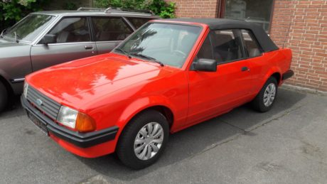 Ford Escort 1,6 Cabriolet 1983 Red Fire