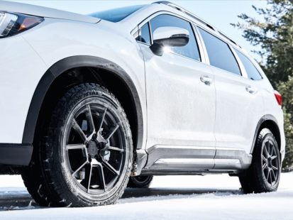 Subaru Ascent 2019 - white, black custom wheels