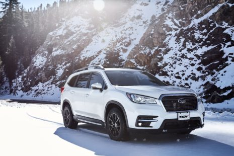 Subaru Ascent 2019 - white, winter