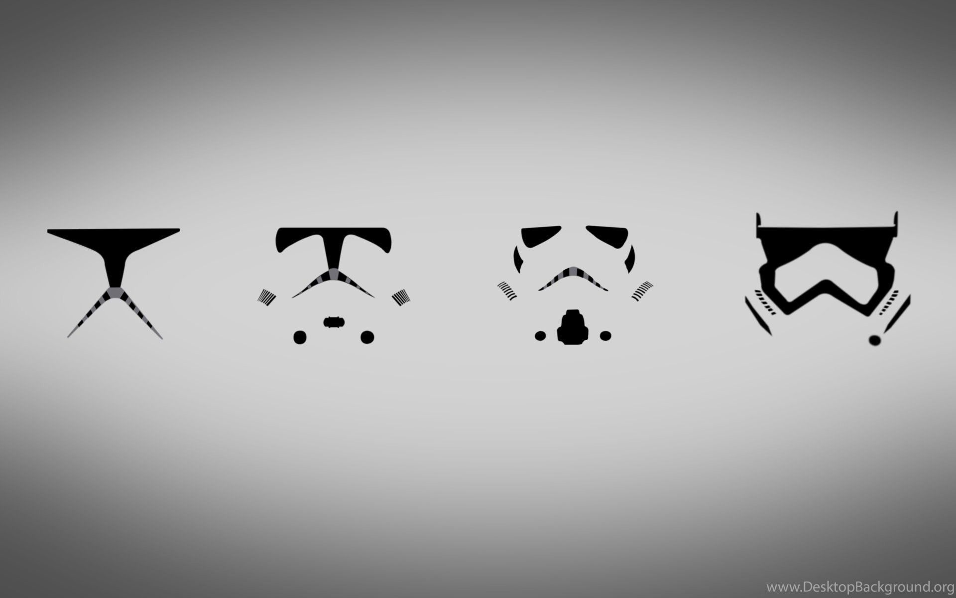Four masks of Stormtrooper