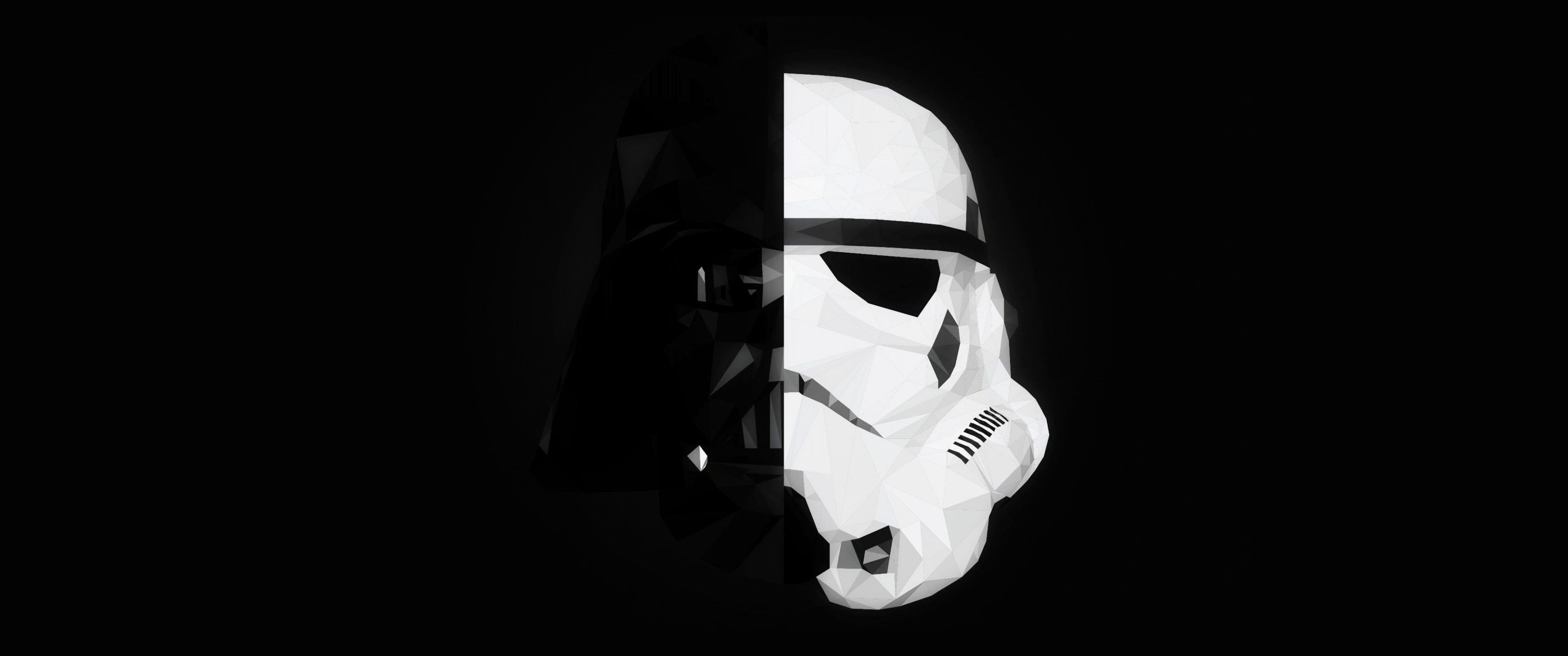 Black and white mask of Stormtrooper