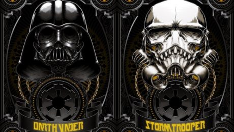 Darth Wader and Skull mask Stormtrooper