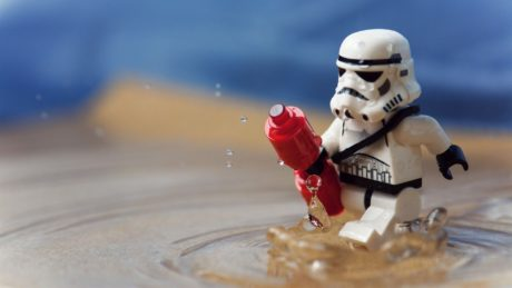 Lego in water Stormtrooper
