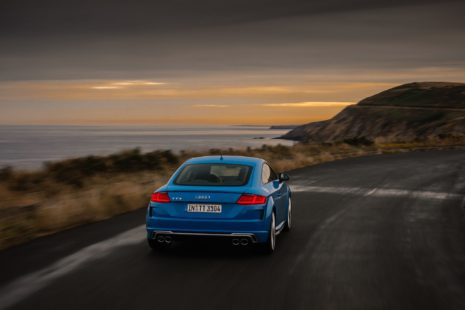 Audi TTS 2019 - blue, sunset